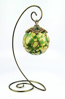 Jay strongwater peacock christmas tree glass christmas for Small gold christmas ornaments
