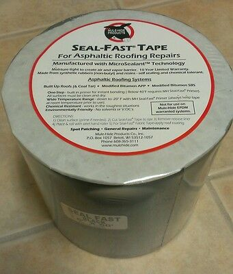 "6""x 50' Black Seal-Fast Mule-Hide Products Asphaltic Roof Repair Tape-BEST PRICE"