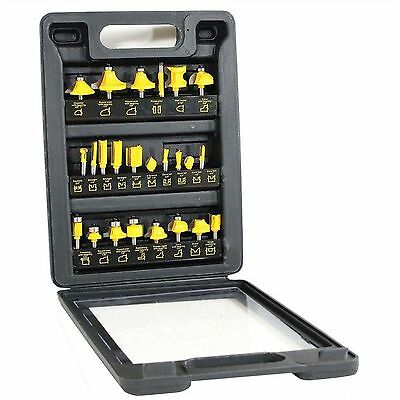 Carbide-Tipped Router Bit Set (24-Pieces) Professional Wood Working Tools