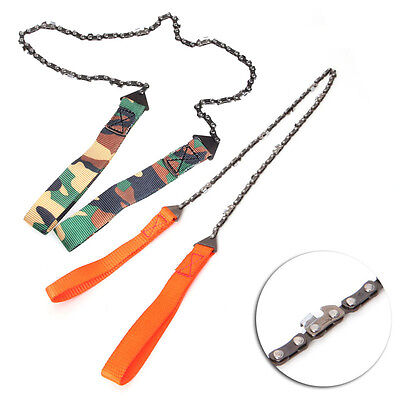 Portable Outdoor Survival Camping Hand Chainsaw Pocket Chain Saws Tool /w Pouch