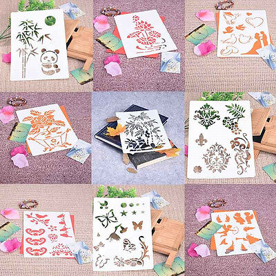 Masking Airbrush Spray Paint Templates Drawing Stencils DIY Embossing Scrapbook