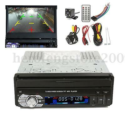 1 Din 7'' HD Touch Screen MP3/MP5/DVD/CD Bluetooth Video Player USB GPS & Camera