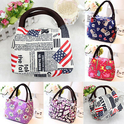 Portable Thermal Insulated Picnic Lunch Bag Cooler Food Storage Tote Waterproof
