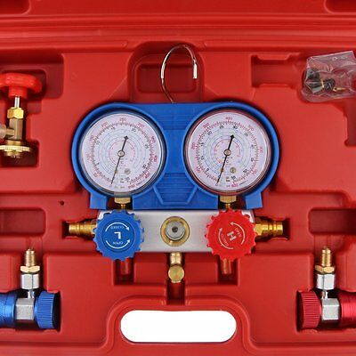 R-134A Air Conditioning AC Diagnostic Manifold Gauge Refrigerant Tool Set  HT
