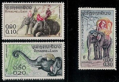 ROYAL KINGDOM OF LAOS 1958 Old Mint Stamps - Elephant