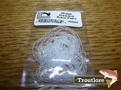 Pearl Midge Diamond Braid - New Hareline Dubbin Fly Tying Body Materials