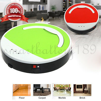 LED Robot Robotic Vacuum Cleaner Automatic Recharge Floor Heavyduty Sweeper AU