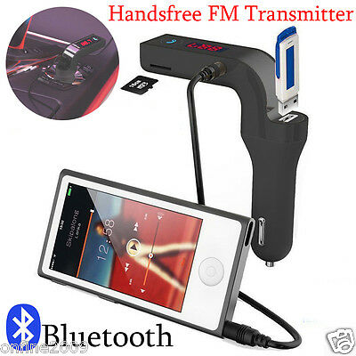 Bluetooth Car Kit FM Transmitter Wireless Handsfree MP3 Player LCD USB Charger