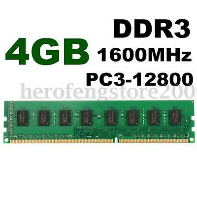 4GB DDR3 PC3-12800 1600MHz 240Pin Computer PC DIMM Memory RAM For Destop AMD CPU