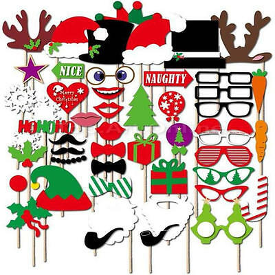 50pcs Photo Booth Props Moustache on A Stick Wedding Christmas Birthday Party