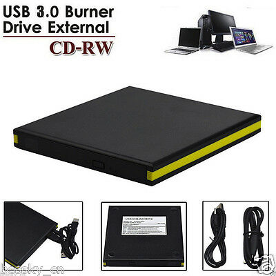 New USB3.0 External Double Layer Burner Writer Player DVD CD Drive for Laptop PC