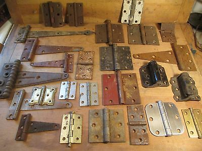26 Hinges - Singles - Rust & Distressed - RePurpose Artist Lot