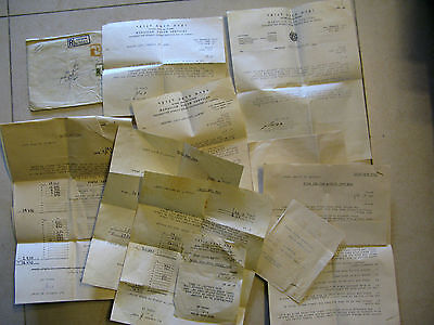 JUDAICA PALESTINE HADASSAH YOUTH SERVICES LETTERS & DOCUMENTA 20 SHEETS 1940s