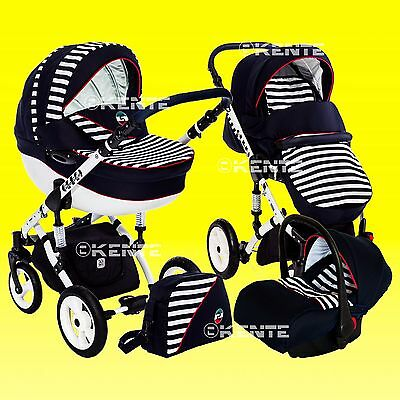 Pram stroller pushchair travel system buggy DP-S with option car seat and IsoFix