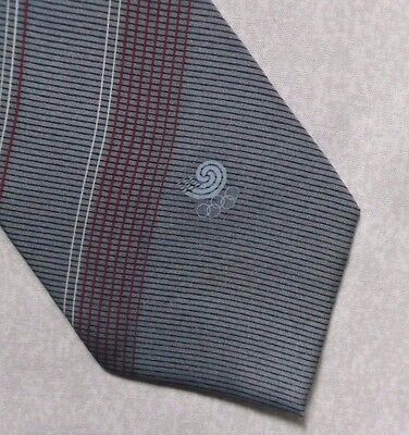 SEOUL 1988 OLYMPIC TIE VINTAGE RETRO OLYMPICS STRIPED DESIGN SUMMER 1980s