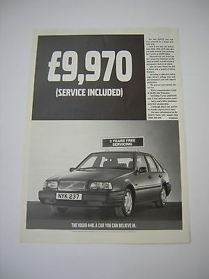 Volvo 440 Advert from 1994 - Original