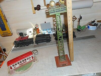 "Lionel Prewar # 92 Floodlight Tower, 21"" Tall, Green, Project Here, Examine"