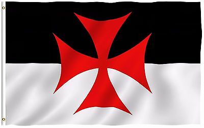 ANLEY Templar Knights Battle Flag 3 x 5 ft Crusader Catholic Banner Polyester