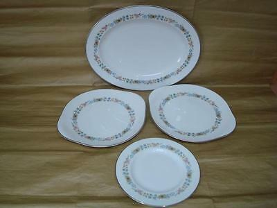 Royal Doulton Pastorale Large Oval Serving Plate &  2 Cake Plates  & 8 In Plate