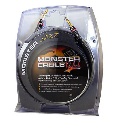 """Monster Cable ProLink Jazz Guitar Cable - 1/4"""" Straight to 1/4"""" Straight - 21 Ft"""