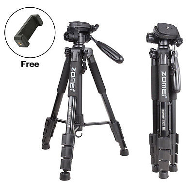 ZOMEI Q111 PRO Aluminum Portable Travel Camera Tripod Pan Head For DSLR Phone