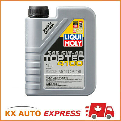 12 Liter Liqui Moly Top Tec 4100 SAE 5W-40 Fully Synthetic Engine Oil