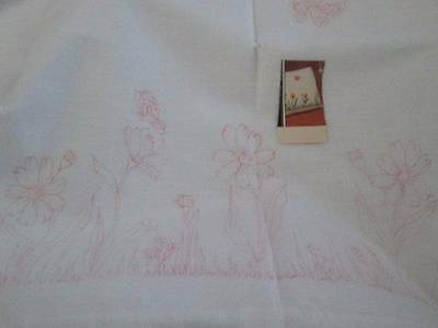 Daisy Tri-Chem Pillowcases #7543-2 Standard Sized-Ready To Paint/Embroider