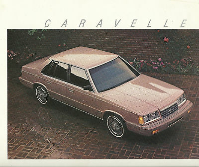 1987 Plymouth CARAVELLE Sales Brochure / Catalog with Color Chart: SE,