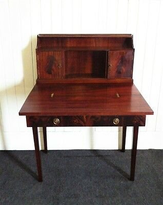 Antique Mahogany 2 tier writing desk - table