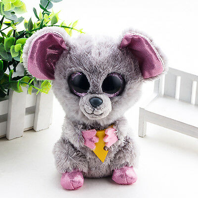 TY Beanie Boos Animal Halloween Mac Mouse Plush Stuffed Toys Big Pink Eyes Gift