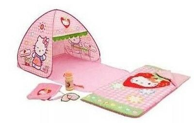 New Hello Kitty 5 Pc Set Tent, Sleeping Bag,  Water Bottle.