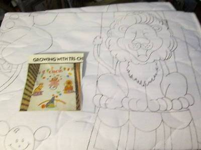 Circus Quilted Crib Quilt Tri-Chem #7686-Ready To Paint/Embroider-29.5x42 Inches