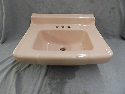 Vtg Mid Century Ceramic Peach Porcelain NOS Bathroom Sink Retro Plumbing 1882-16
