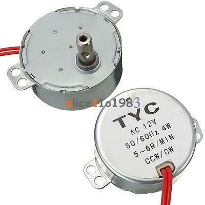 Pro TYC 50 12V 4W 50/60Hz Synchronous Motor 5/6RPM CW CCW Microwave Turntable