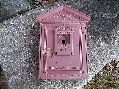 Gamewell Fire Alarm Call Box Antique Cast Iron