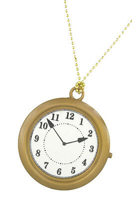 Oversized Rappers Clock Necklace Costume Accessory