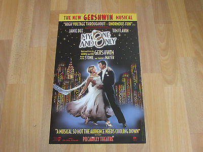 My One and Only the New GERSHWIN Musical Original PICCADILLY Theatre Poster
