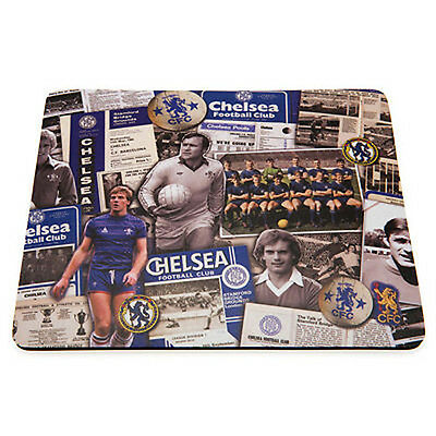 Chelsea FC Official Retro Design Mouse Mat In Presentation Sleeve New