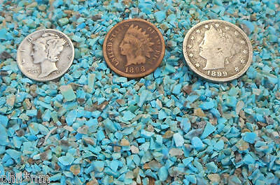 Crushed NATURAL Blue Turquoise Inlay Material - 1/2 ounce chips for wood, stone