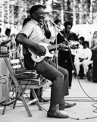 American Blues Singer MUDDY WATERS Glossy 8x10 Photo Guitar Musical Poster Print