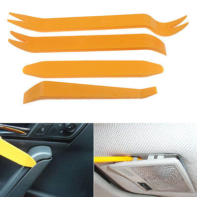 4 in set Removal Pry Open Tools Kit For Car Door Trim Panel Clip Lights/Radio