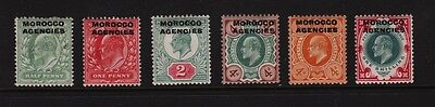 Great Britain - Morocco Agencies Edw. VII mint, cat. $ 70.75