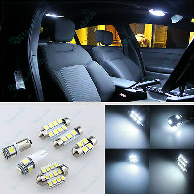 Bright White LED Lights Interior Package Kit For Toyota RAV4 2001-2005 -6Pcs