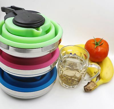 1.5L Collapsible Folding Kettle Silicone Camping Backpacking Space Saving
