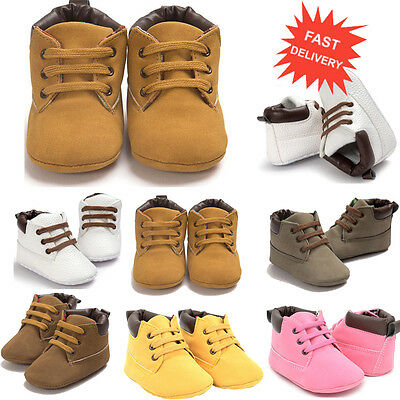Newborn Toddler Baby Boy Girl Warm Snow Boots Soft Sole Leather Crib Shoes 0-18M