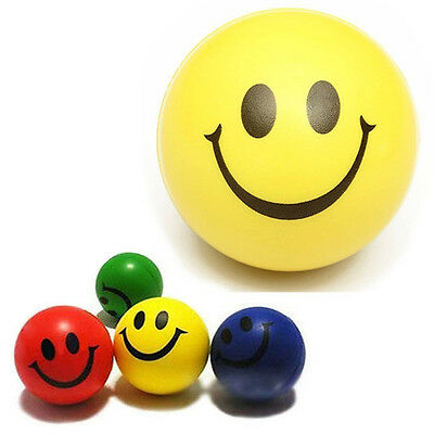 4Pcs Smiley Gesicht Relief Squeeze Ball Funny Happy Face Spielzeug ET