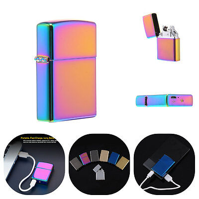New Dual ARC Pulse Cigarette Lighter Electric Rechargeable Flameless USB Lighter
