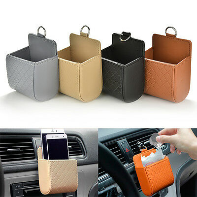 Car Seat Back Tidy Storage Coin Bag Organizer Holder Pounch Box For phone HGJ