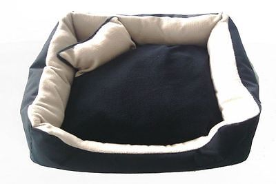X Display Satin Soft Pet Bed Clearance - Black And Cream - X-Large