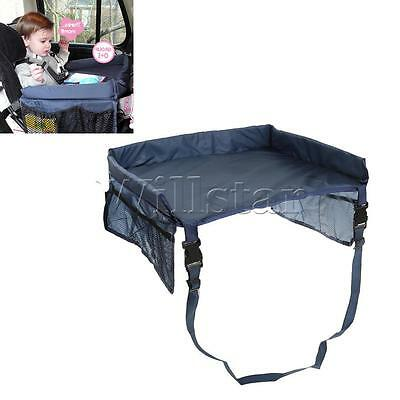 Waterproof Travel Tray Snack Baby Car Seat Table Safety Kids Play Drawing Board